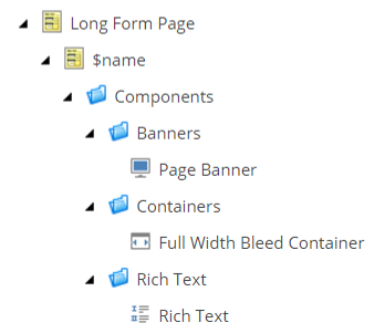 Using Sitecore branch templates to create structured content models